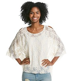 Eyeshadow® Lace Cold Shoulder Top