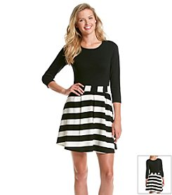 Trixxi® Striped Skater Dress