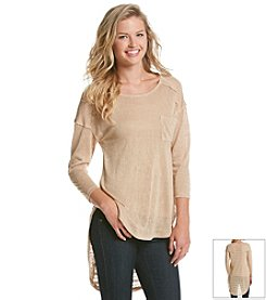 Eyeshadow® High Low Hacci Top