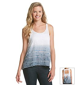 Kensie® Performance Burnout Stripe Tank