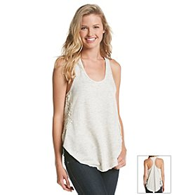Kensie® Performance Lace Panel Tank