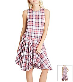 BCBGeneration™ Plaid Drop Waist Dress
