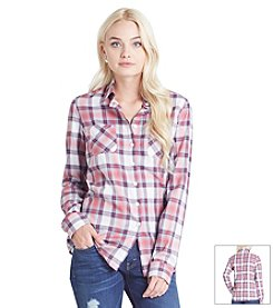 BCBGeneration™ Plaid Button Down Shirt