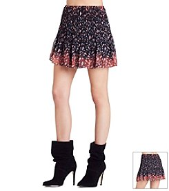 BCBGeneration™ Floral Pleated Skirt