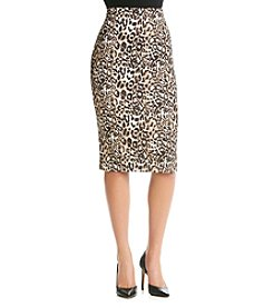 Sequin Hearts® Animal Print Scuba Midi Skirt