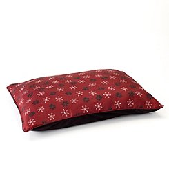 John Bartlett Pet Burgundy Snowflake Large Pet Bed