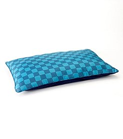 John Bartlett Pet Teal Check Extra Large Pet Bed