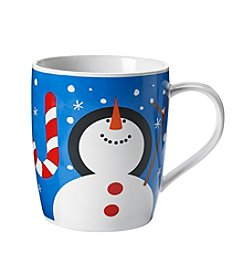 LivingQuarters Joy Snowman Mug
