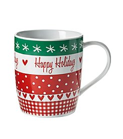 LivingQuarters Happy Holidays Mug