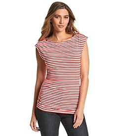 MICHAEL Michael Kors® Zip Shoulder Stripe Top