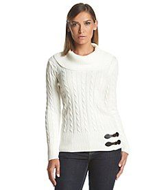 Calvin Klein Cable Cowl Neck Sweater