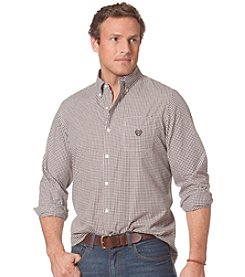Chaps® Men's Long Sleeve Gingham Poplin Shirt