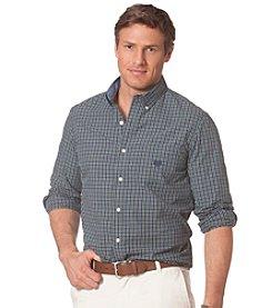 Chaps® Men's Long Sleeve Checked Poplin Shirt