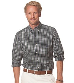 Chaps® Men's Long Sleeve Checked Poplin Shirt