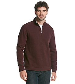 Paradise Collection® Men's Long Sleeve Heather Flatback 1/4 Zip Pullover