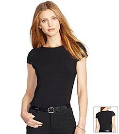 Lauren Ralph Lauren® Pintucked Cap-Sleeve Top