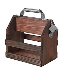 Reward Lodge Men's Wooden Bottle Caddy