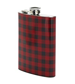 Reward Lodge Men's Buffalo Plaid Flask