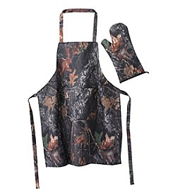 Reward Lodge Men's Camouflage Apron And Mitt Set