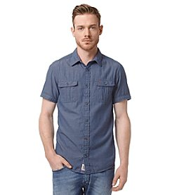 Buffalo by David Bitton Men's Short Sleeve Sawnost Loose Button Down