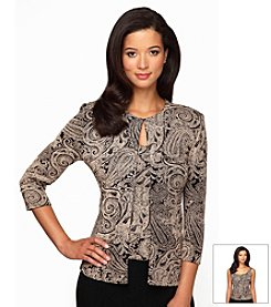 Alex Evenings® Paisley Printed Twinset