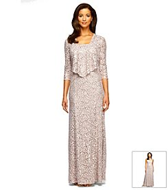 Alex Evenings® Lace And Sequin Jacket Dress