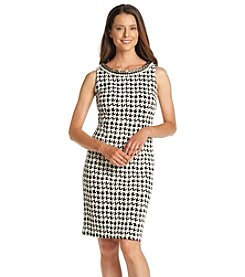 Chetta B. Houndstooth Sheath Dress