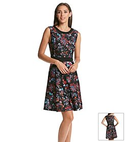 Nine West® Floral Fit And Flare Dress