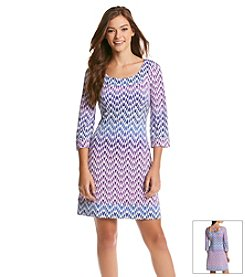 Jessica Simpson Chevron Lattice Dress