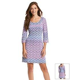 Jessica Simpson Chevron Lattice Dress