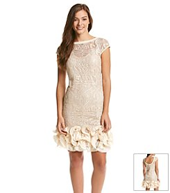 Jessica Simpson Tiered Ruffle Hem Dress
