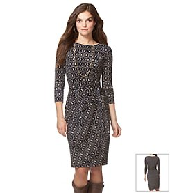 Chaps® Patterned Day Dress