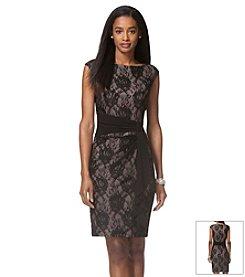 Chaps® Floral Lace Dress