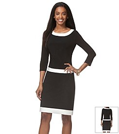 Chaps® Contrast Day Dress