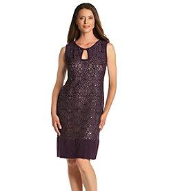 R&M Richards® Keyhole Sequin Dress
