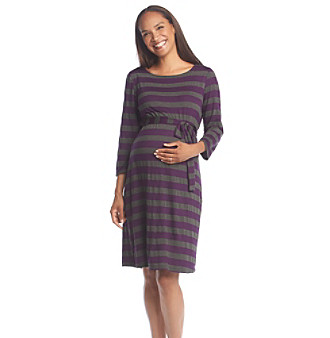 Three Seasons Maternity™ Contrast Stripe Knit Dress plus size,  plus size fashion plus size appare