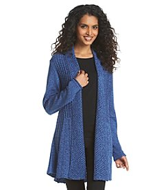 Notations® Marled Fishtail Cardigan