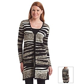 Laura Ashley® Zebra Collage Cardigan