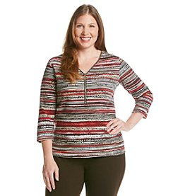 Rafaella® Plus Size Animal Print Spice Market Top