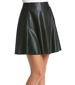 Chelsea & Theodore® Faux Leather Skirt