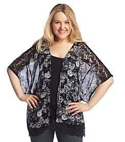 Jessica Simpson Plus Size Floral Print Kimono