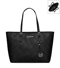 MICHAEL Michael Kors® Jet Set Stitch Quilt Saffiano Leather Tote