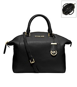 MICHAEL Michael Kors® Riley Medium Pebbled Leather Satchel
