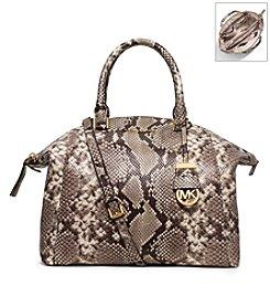 MICHAEL Michael Kors® Riley Large Embossed Leather Satchel