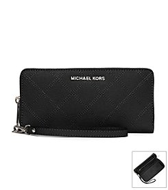 MICHAEL Michael Kors® Jet Set Travel Large Stitch Quilt Saffiano Continental Wallet