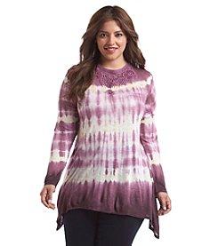Gloria Vanderbilt® Plus Size Lace Detail Tie Dye Top