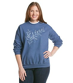 Morning Sun® Plus Size Double Collar Harvest Sweatshirt
