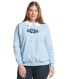 Morning Sun® Plus Size Floral Hearts Sweatshirt