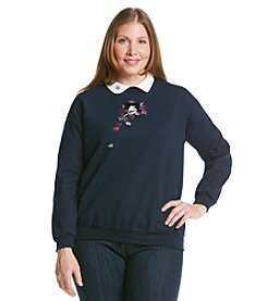 Morning Sun® Plus Size Maple And Chickadee Sweatshirt