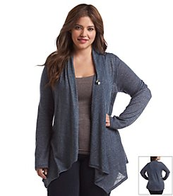 AGB® Plus Size One Button Marled Cozy